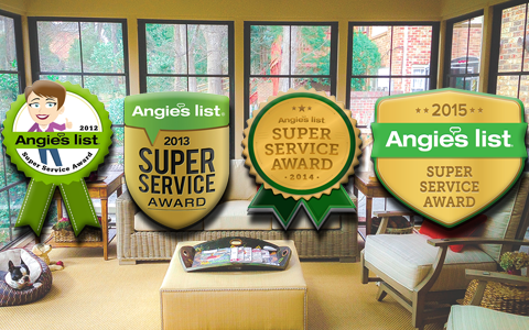 image shows Angie's List award on Porch Conversion of Charlotte website