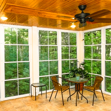 Image Shows EZE Breeze Porch Windows From Porch Conversion Of Charlotte