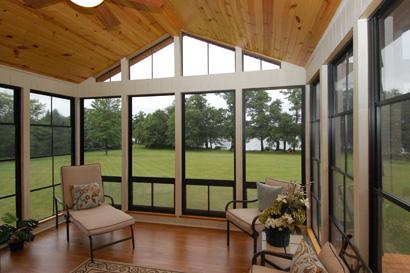 image shows three season sunroom built by Porch Conversion of Charlotte NC
