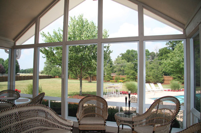 image shows sunroom built by Porch Conversion of Charlotte NC