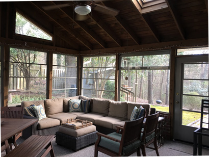 image show sunroom with EZE Breeze windows on Porch Conversion of Charlotte NC website